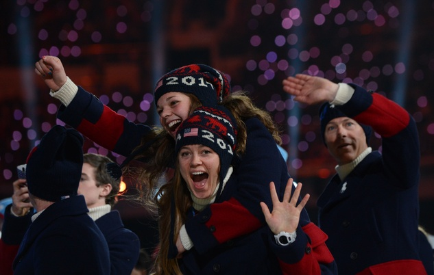 Ralph Lauren Olympics closing ceremony coat