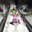 Cherri Carbonara Baccarat factory tour April 2015 Displays of historic Baccarat crystal pieces at Maison Baccarat