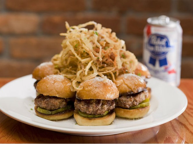 Sliders at Matchbox restaurant in Dallas