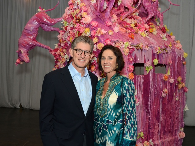 0 David and Heidi Gerger at the Texas Contemporary Art Fair VIP opening party October 2013