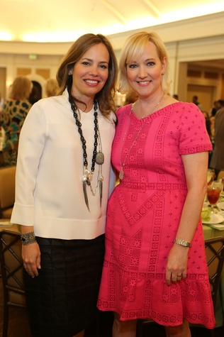 11 Hilda Curran, left, and Angie Hollaway at the The Center Luncheon February 2015