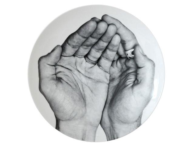 Front of Bernardaud porcelain plate