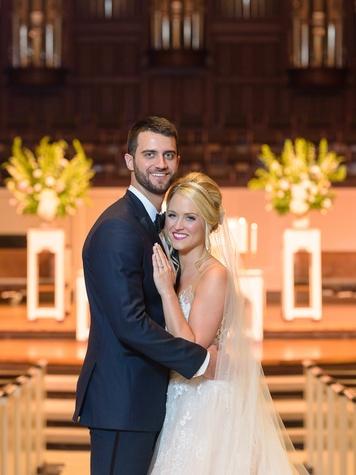 Neely wedding, couple