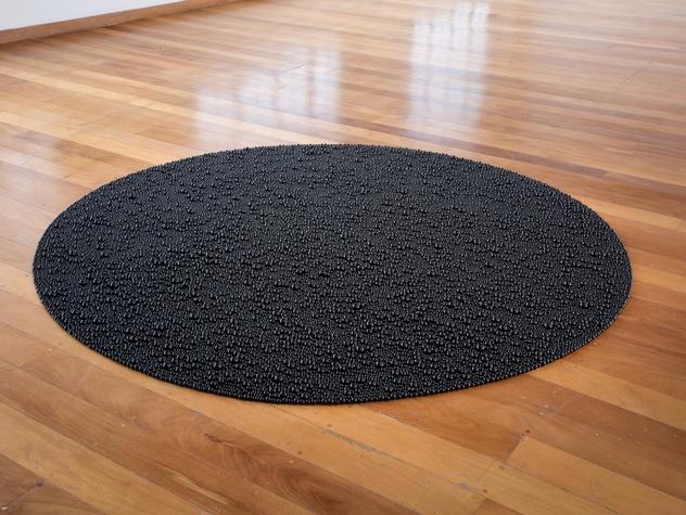 Mona Hatoum: Terra Infirma, Turbulence (black), 2014