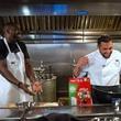 Houston, Kitchen Throwdown with Whitney Mercilus, Jan 2017, Whitney Mercilus, Chef Sabin Lomac