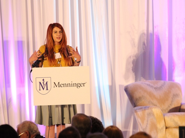 Simone Hunt at Menninger Clinic luncheon