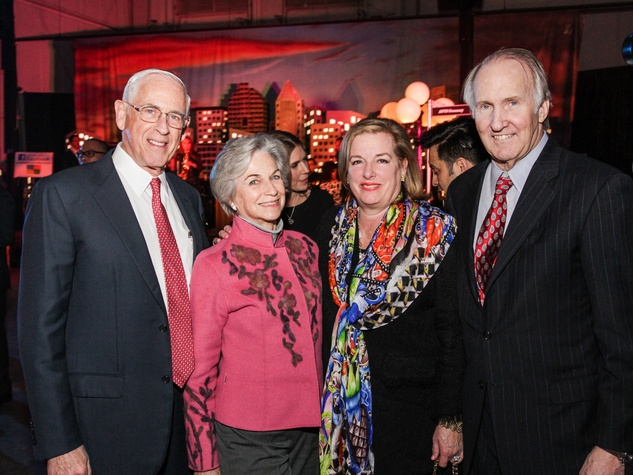 2 Dr. John Mendelsohn and Anne Mendelsohn, from left, and Molly and Jim Crownover at the Social Book Launch Party February 2014
