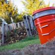 Picture of bokashi D-I-Y composting bucket.