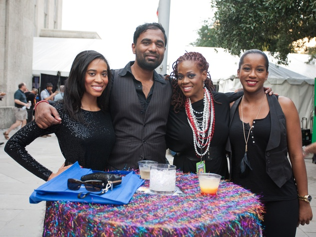 Bayou City Art Festival, Art Heist, October 2012, Hannah Thibodeaux, Ananth Natarajan, Stacy Robinson, and guest