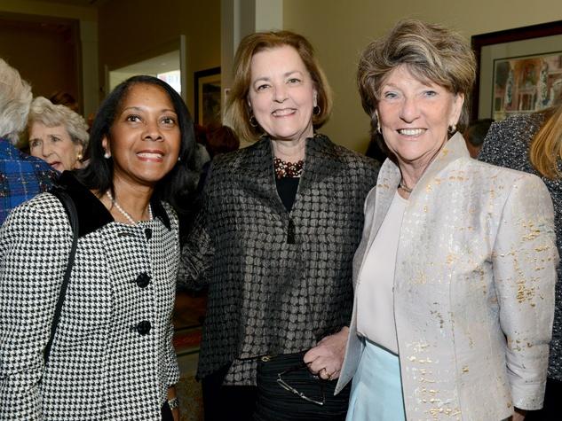 Lola Chriss, Mary Wilson,  Ann McGinity, TWU awards