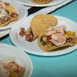 Sample bites from Taco Diner