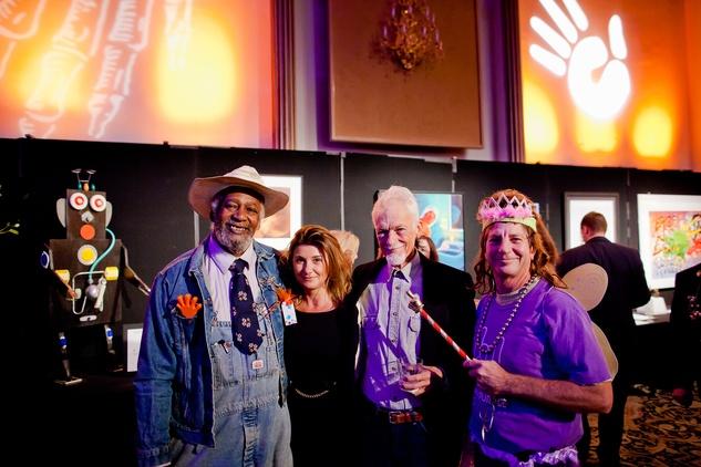 22 Jesse Lott, from left, Erika P. Johnson, Jim Hatchett and Paul Kittelson at the Orange Show Gala November 2014