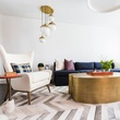 Houzz Houston house home 1960s London Texas style living room midcentury modern