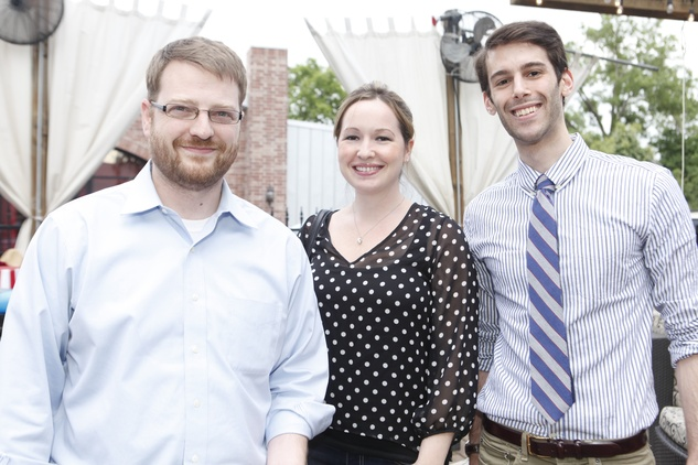 Michael and Melissa Wright, from left, with David Rappaport at Friends of DePelchin's Fiesta May 2014