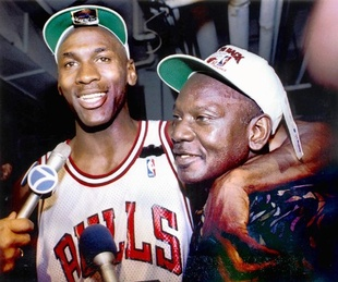 Michael Jordan and father James Jordan