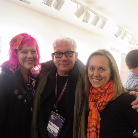 Erika Pinktipps, Joe Dishner, Heather Page, Film Texas reception at Sundance FIlm Festival