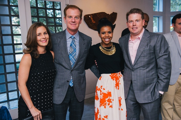 0172 36 Jennifer and Steve Dolman, from left, Claire Thielke and Brandon Cochran at the Houston Symphony's Young Associates Council season kick-off August 2014
