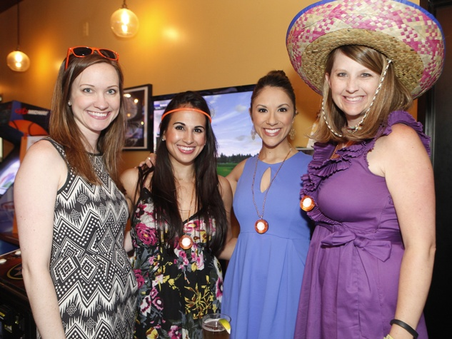 Friends of Depelchin Cinco de Mayo Eliza Wright, Anna Lyssa Cuevas, Rebecca Cantu and Mandi Lewis