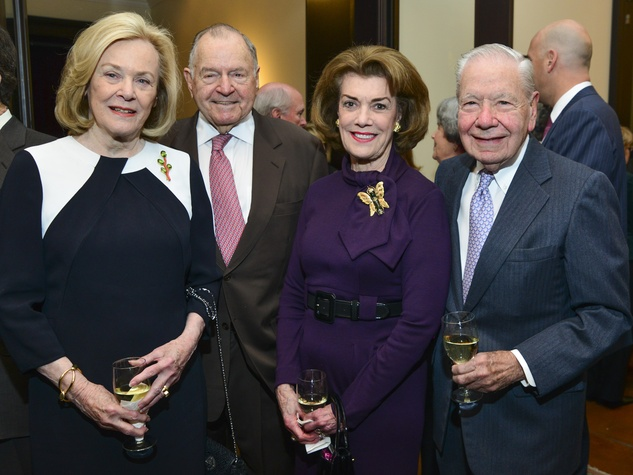 7 Anne and Charles Duncan, from left, and Jeanie Kilroy Wilson and Wally Wilson at the Baker Institute reception December 2013
