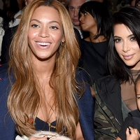 Beyonce, Kim Kardashian with daughter North and Anna Wintour adidas Originals x Kanye West YEEZY SEASON 1 fashion show