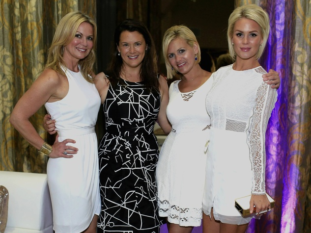 Christa Wetzel, event co-chair, Jennifer Howell, The Art of Elysium, Sally Evans, event co-chair, Reese Threadgill, event  co-chair, hollywood domino kickoff