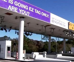 EZ Tag lane tollway ABC13