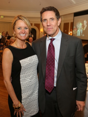 Kelly Larkin and Wayne Keathley at the St. Luke's Friends of Nursing luncheon April 2014