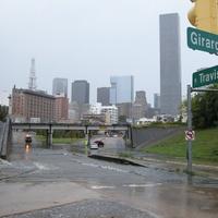 2 flooding near University of Houston Downtown October 2013