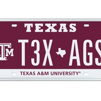 No. 9 top 10 Texas license plates 2013 TAMU-T3X-AGS