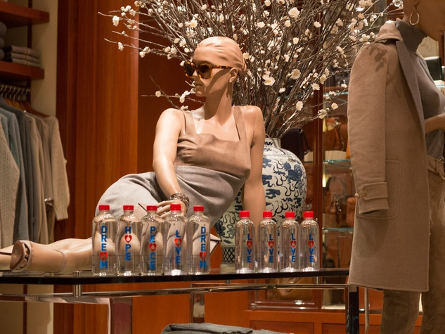 I Am Waters at Ralph Lauren Houston October 2013 bottles of water on table