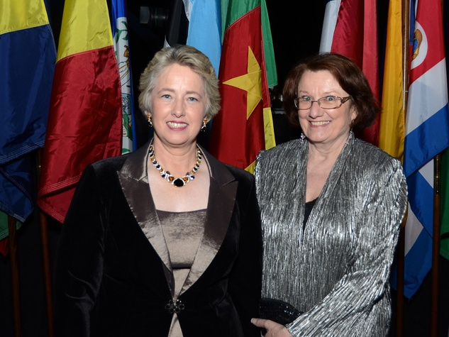 Mayor Annise Parker and Kathy Hubbard at the Consular Ball October 2013