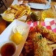 Good Dog fish and chips and Picnic hot dog