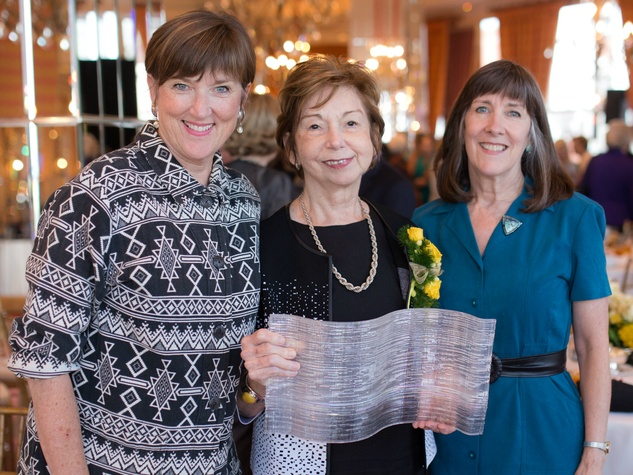 Deborah Jung, Sharon Benge and Linda Lee, Fort Worth Art Council Heart of Gold Luncheon