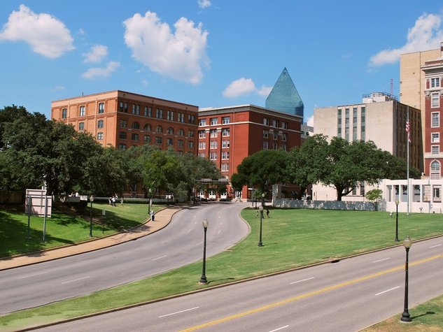 Texas School Book Depository Building and Dealey Plaza