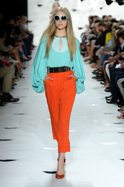 Diane von Furstenberg, fashion show, Sept 2012