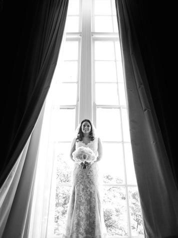 Monica Kitt Wedding, BW portrait