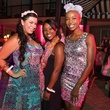 24 Pamela Morrison, from left, Renia Butler and Free Lane at the Pink Party at Hotel ZaZa July 2014