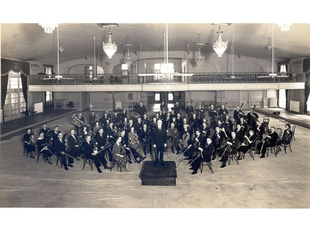 The Houston Symphony Orchestra in the early 1930s with conductor Frank St. Leger