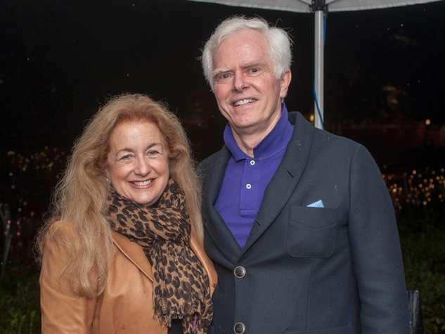 16 Yvonne and Scott Zieglar at the Bruce Munro VIP reception at Discovery Green November 2014