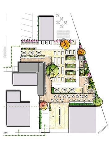 Site plan for new Victory Beer Garden in Midtown October 2013