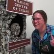 6. Eastern Screech Owl and volunteer, Christina Spade Katie Oxford Wildlife Center of Texas December 2014