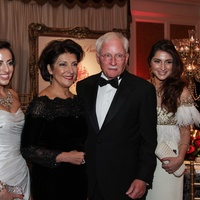 Sarah Sallee, from left, Jaleh and Bruce Sallee and Stephanie Sallee at the Huffington Center on Aging Gala November 2013