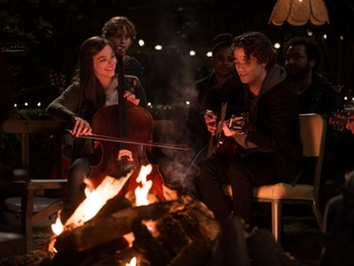 Chloe Grace Moretz and Jamie Blackley in If I Stay