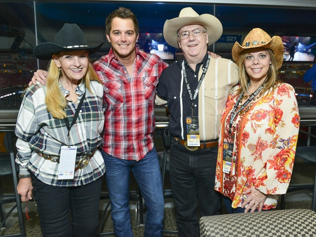 Paula Mercer, Easton Corbin, Tommy Mercer, Laura Lee at Lucchese party at Houston rodeo