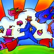 Cosmic Runner by Peter Max