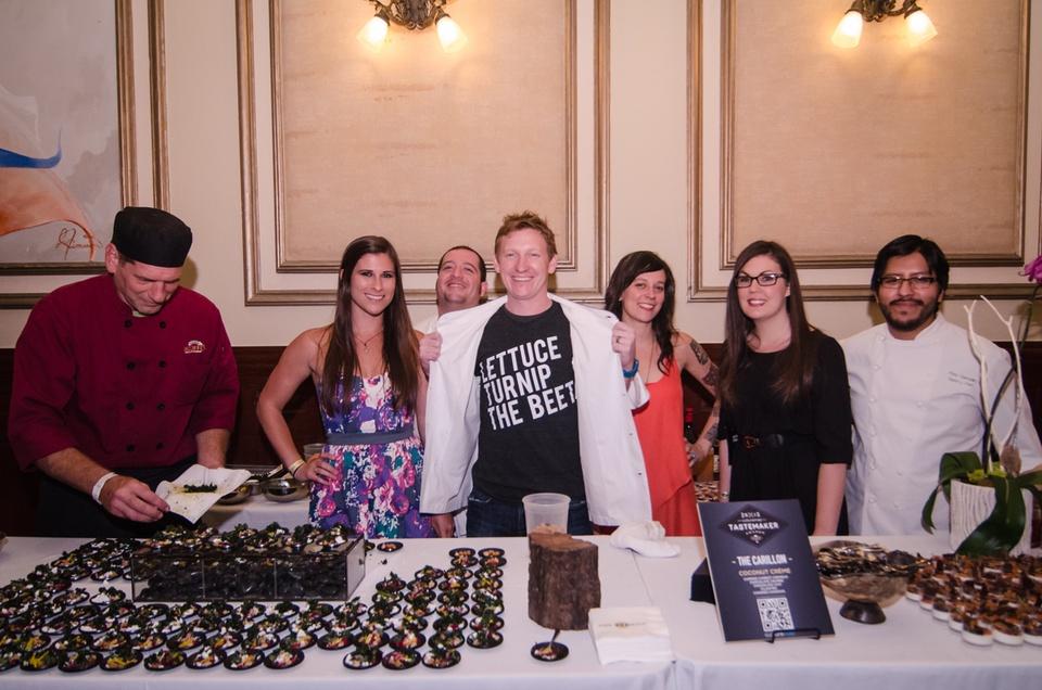 the team from La Carillon including chef Josh Watkins and pastry chef Plinio Sandalio