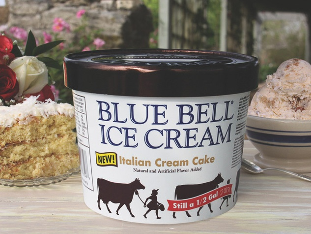 new Blue Bell ice cream flavor Italian Cream Cake