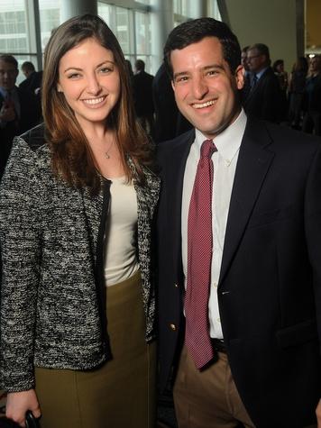 48 Samantha Strauss and Jared Dubin at the Guardian luncheon November 2013