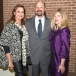 Jennifer Elkins, left, with Mark and Katherine Yzaguirre at Rothko Chapel's Moonrise Party on the Plaza October 2013