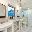 East Austin house home 1131 Poquito Street 78702 master bathroom